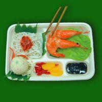 Multi-compartments Paper Lunch Box