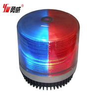 ambulance beacon warning light, DC 12V, red,blue,amber,R&B.0.7kgfor warning truck