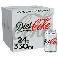 Diet Coke Cans 330ml x 24 Cans