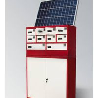 Solar phone/tablet charging station/locker
