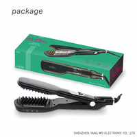 Salon steam professional hair straightener with comb in 360 degree swivel cord