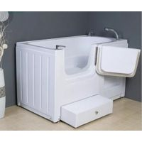 Walk-in pet/dog bathtub