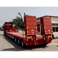 3 Axles 40 Tons Low Bed Trailer With Air Suspension
