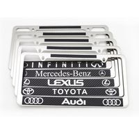 American stainless steel carbon fiber license plate frame American car license plate frame thumbnail image