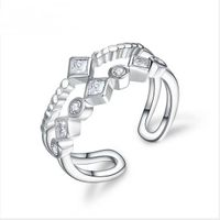 Factory Cheap Price Women Jewelry Rings 925 Silver Rings Micro Settings Rings with Zircon