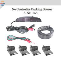 No mian host Waterproof Parking Sensors for truck and bus with Numeral and color LED Display
