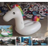 2016 new design giant inflatable unicorn water toys inflatable unicorn swimming mattresses inflatabl