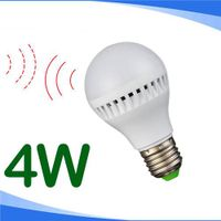 4W motion sensor LED bulb light