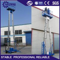 Exhibition hall used 10M portable hydraulic work platforms
