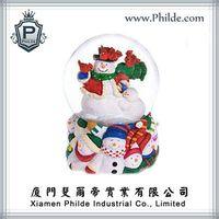 Snowman Figure Water Snow Globe, Christmas Decoration thumbnail image