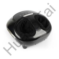 HT-F02 BLK Electric foot massager with fashionable design rolling,heating and air massage functions