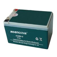 6-Dzm-12 12V12ah High Quality Rechargeable Maintenance-Free Electric Bicycle Battery