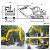 Baoding BD80-8 crawler mini excavator