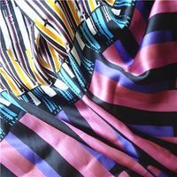 Stretch printed satin fabric, made of 100% polyester, 50*70D yarn count, water printingStretch print