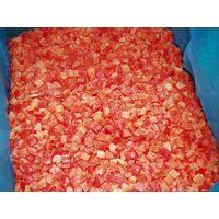 frozen red pepper diced