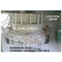 USED UBE-NORDBERG MODEL 66GD GYRADISC CRUSHER WITH HYDRAULIC OIL TANK AND CONTROL PANEL (WITHOUT M thumbnail image