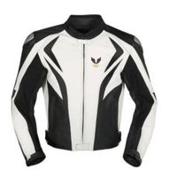 Black and white motorycle jacket with armor protection thumbnail image