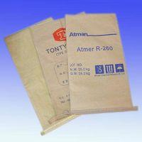 PE PP woven plastic kraft paper cement bag 25kg