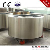 Rotary kiln support roller material