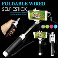 Mini Foldable Wired Cable Take Pole Self Stick Monopod Selfie Telescope for iPhone IOS Android SSM01 thumbnail image