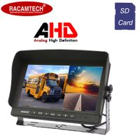 High Quality 9 Inch TFT LCD Car/Bus/Truck Quad Monitor with DVR SD Card Recording Function