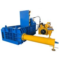Aluminum can/ferrous nonferous metal baler compactor machine