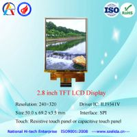 hot selling 2.8 inch lcd display 240x320 with spi/mpu interface