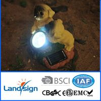 2016 new arrival solar garden decoration lights XLTD-1545 solar accent spot light with 2 yellow dogs thumbnail image