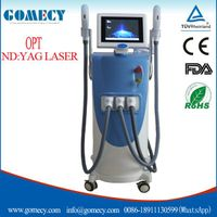 CE approved Elight IPL RF Nd yag laser 3 in 1 multifunction beauty machine / new e light ipl rf nd y thumbnail image
