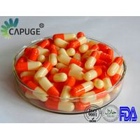Empty Gelatin Capsule orange 2 4 small size