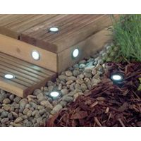 Solar Power LED Deck Lights Floor Lamp Stair Light Outdoor Waterproof Underground Lighting Solar Pan