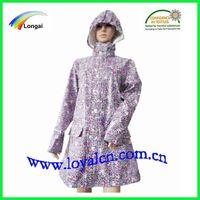 women fashion&girl PU raincoat