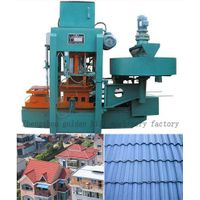 The highest capacity of concrete roof tile machine
