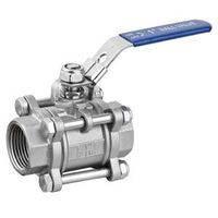 Stainless Steel Ball Valve, Threaded Ball Valve, 3PC Balll Valve