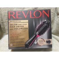 Revlon PRO Collection Salon One-Step Hair Dryer Volumizer Brush Black & Pink