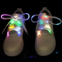 Nylon LED Shoelaces Fashion Light Up Casual Sneaker Shoe Laces Disco Party Night Glowing Shoelaces