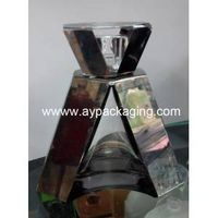 pefume bottle and crystal cap with hand polishing and ion plating