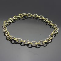 Sterling Silver Jewelry 925 Silver Chain Necklace in Gold Plated (N-023) thumbnail image