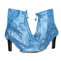Fashionable Ladies PVC Slip-on High Heels Galoshes for Women Overshoes