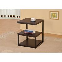 Wood Side End Accent Table in Cappuccino/Homex_BSCI