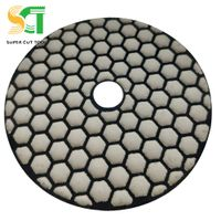 Flexible polishing pads for dry use on stone slab surface and edge thumbnail image