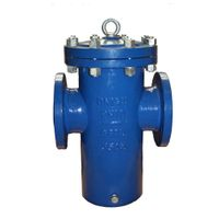 Cast&ductile iron simplex basket strainer expoxy coating