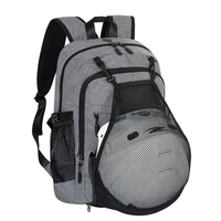 Casual Laptop Backpack College Backpack with Basketball Nets Headphone Port & USB Charging Port Spor thumbnail image