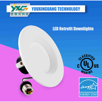 YXG-LED Downlight E26lamp base 4inches8W UL ES Approved