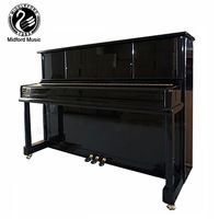 Middleford black polish Acoustic Upright Piano UP-110E