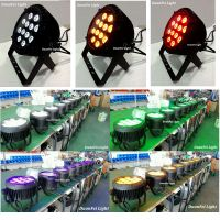 Stage light dmx 12x18w quad led par rgbwa uv 6in1 dj light ip 65 led par can