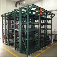 Green steel draw out mould rack