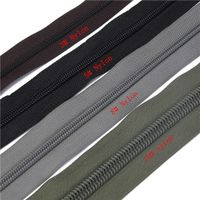 Factory Wholesale Custom Fancy Reversible Black Long Chain Nylon Zipper Rolls For Luggage Bags