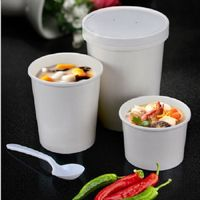Paper Soup Bowl With Plastic Lid thumbnail image