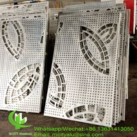 CNC metal panel with flower design